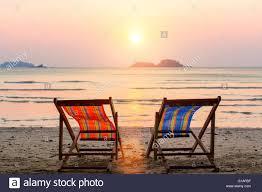 adirondack chairs on beach sunset. Perfect Chairs Adirondack Chairs On Beach Sunset Two Lounge Chairs On Sunset Beach   Stock Image Intended Adirondack Beach