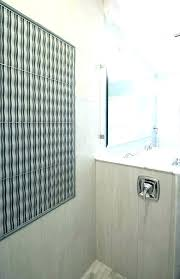wavy glass tile wavy tile shower decorative glass brings a work of art into this walk