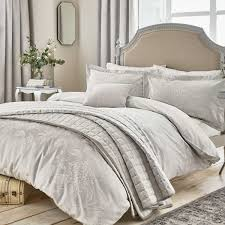 Sanderson Clearance Bedding   Sanderson Discontinued / Sale ... & Sanderson Hortensia Blossom Bedding In Silver Adamdwight.com