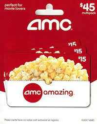 Notify me when tickets go on sale. Amazon Com Amc Theatre Gift Cards Multipack Of 3 15 Gift Cards