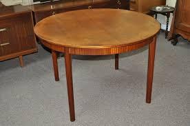 vintage teak furniture. Vintage Teak Round Extending Dining Table W/ Butterfly Leaf C.1960\u0027s Furniture