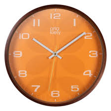 orla kiely orange wall clock