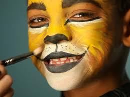 kid s makeup tutorial lion lion face paint