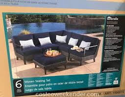 foremost 6 piece woven seating set