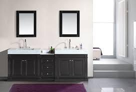 unstained teak wood trough sink vanity