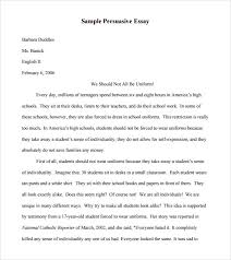 example of speech essay sample com  example of speech essay 4 sample persuasive 7 documents in pdf