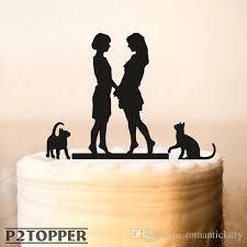 Lesbian With Cat Wedding Cake Topper Same Wedding Cake Topper