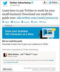 how twitter advertising works twitter touts its b2b lead gen capabilities has a new ad tool in