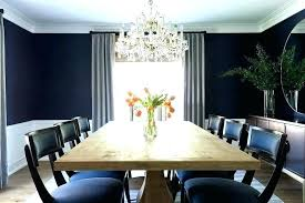 Dark Blue Dining Room Reclaimed Wood Table With Chairs Images Rug Accent Wall