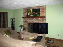 want to mount tv above fireplace but can i countertop paint