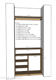 create custom closet organization on a budget with the diy plywood closet organizer build plans