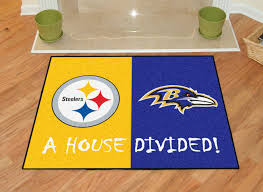 pittsburgh steelers new york giants house divided all star area rug mat
