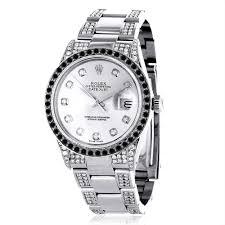 rolex watches rolex watches for men women on at itshot com custom white black diamond rolex datejust mens watch 7ct