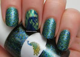 The Nail Junkie Peacock + Nail Art! - Adventures In Acetone