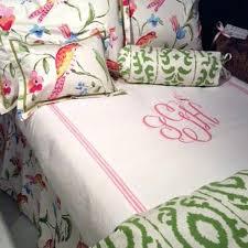 monogram comforter set custom bedding pink