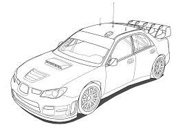 Coloriage De Voiture De Rallye Subaru Coloriage De Voiture De Rallye