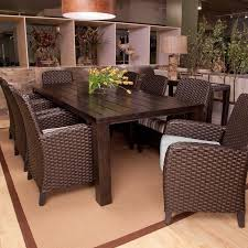 popular of wicker outdoor dining sets dining room the marvelous wicker patio dining table 3 impressive
