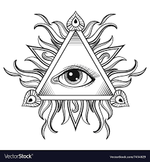 All Seeing Eye Pyramid Symbol In Tattoo