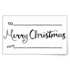 Watercolor Christmas Tags Stickers | Zazzle