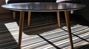 white scandinavian coffee table