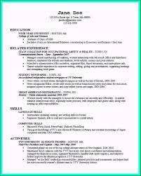 Resume Templates For New College Graduates Awesome The