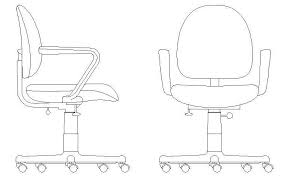 office chair drawing. Unique Chair Office  Desk Chair Elevations Throughout Drawing