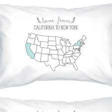 printed pillow cases. Love From States White Personalized Pillow Cases Customized Gifts Printed