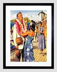 image is loading vacation scene cruise ship deck hawaii lei garland