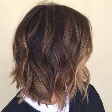 Shaggy Brown Bob With Subtle Balayage