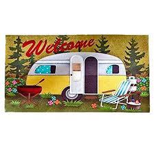 amazing rv patio mat for door floor mat retro camper rubber indoor outdoor patio lawn 78 lovely rv patio mat