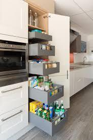 Orion 4 Door Kitchen Pantry Blum Legrabox Drawer In Orion Grey With Internal Cutlery Organiser