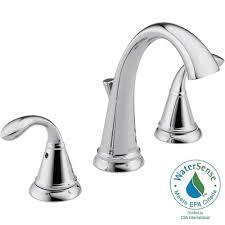 delta zella 8 in widespread 2 handle bathroom faucet in chrome