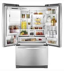 Energy Efficient Kitchen Appliances Residential Refrigerator Freezer American Stainless Steel