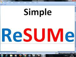 There are several steps you can take to craft a memorable bio for any situation. Simple Job Resume In Microsoft Word Bio Data Employment Template Youtube