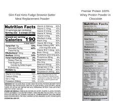 the slim fast keto powder conns it so i decided to switch to premier protein whey powder see the below nutrition labels