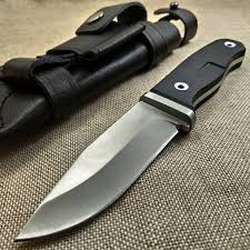 22CM Knives G10 Handle <b>High hardness</b> ATS 34 Steel Fixed Blade ...