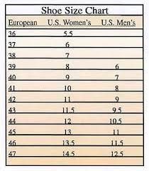 shoes size us to euro european shoe size chart vs us