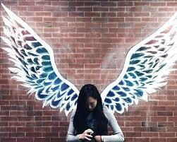 angel wings wall sculpture angel wing wall art angel wings mural graffiti angel wing decor for angel wings wall