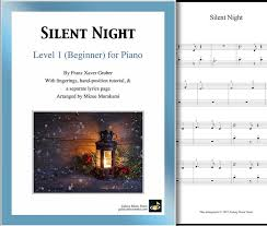Print off the sheet music and sing through it together. O Holy Night Beginner S Piano Sheet Music Christmas