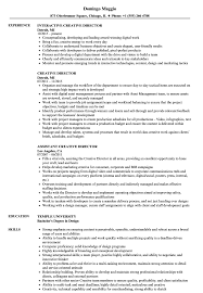 Creative Director Resume Sample Creative Director Resume Samples Velvet Jobs 17