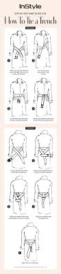 how to tie a trench coat front and back trench coats trench and