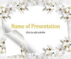Wedding Powerpoint Template Free Flowers And Wedding Wedding Template For Presentation