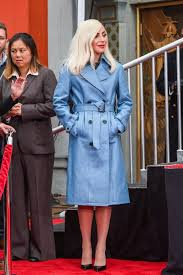 Blue Coat Lady Gaga Is Giving Us A Million Reasons To Buy A New Coat Shop