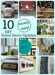 10 mostly easy home decor updates with links to tutorials for all of