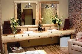 cabin lighting ideas. Bathroom:Gorgeous Rustic Cabin Bathroom Rugs Ideas Lighting Mirrors Decor Sinks Wood Licious Bathrooms Design G