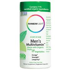 Rainbow Light Men S One Multivitamin Uk Certified Mens Multivitamin 120 Vcaps