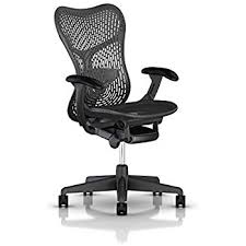 herman miller mirra task chair. Herman Miller Mirra 2 Chair: Std Tilt - Fixed Arms Hard Casters Graphite Task Chair A