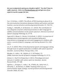sample essay on impact of autism on speech 6