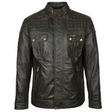 men s herie leather jacket green