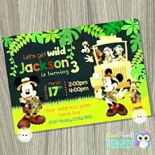 Free Printable Safari Birthday Invitations Jungle Theme Birthday Invitations Free Printable
